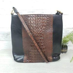 Crocodile embossed fashion shoulder purse
